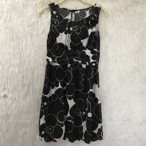 Jodi kristopher black sheer floral dress